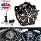 Aluminum CNC Cut Air Cleaner Intake Filter System For Harley Softail 1997 2007