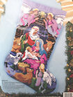 VTG NEEDLEPOINT CHRISTMAS STOCKING KIT Bucilla Nativity 60712 Holy Family Manger