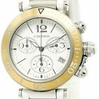 CARTIER PASHA LADY SEATIMER CHRONOGRAPH   STAHL/GOLD (18 KT ROSE), 37mm, TOP!