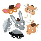 IN 13665038 Nativity Animal Masks 6 Pieces