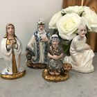 Vintage Holland Mold Nativity Figures Set 4 Ceramic Hand Painted Christmas Small
