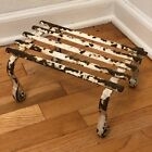 Antique French White Metal Iron Garden Footstool Architectural Salvage