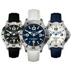 Mens Watch NAUTICA BFD 101 Flags Water Repellent Leather Flag White Black