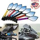 Universal CNC Motorcycle Rearview Side Mirrors For Honda Suzuki Yamaha YZF R1 R6