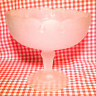 VINTAGE FROSTED SATIN GLASS COMPOTE CENTER-PIECE CANDY FRUIT NUT DISH SERVE BOWL