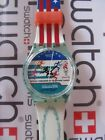 Swatch Atlanta Laurels GZ145 1995 Standard Gents 34mm NOS box Olympic Special