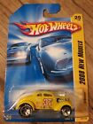 Hot Wheels Pass'n Gasser Yellow Large logo 2008 New Model on Card READ DETAILS