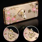 For iPhone X 6 7 8 Plus Soft TPU Rubber Gummy Case Cover Flower Butterfly Holder