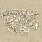 10pcs lot DIY ECG Heart Beat Charms Pendants Alloy Jewelry Making Accessories