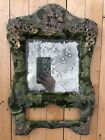 Victorian Mirror Fabric Covered Gilt Accents Patent 1901