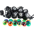 Submersible 6 LED Pond Spot Lights for underwater Pool fountain USA
