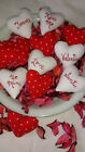 Red and White Valentine Heart Primitive Bowll fillers/ Ornies