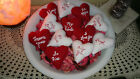 I dozen Red and White Valentine Hearts with sayings Bowl filler/Ornies