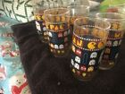 vintage Pacman drinking glasses set of 6