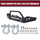Front Bumper 16W lights  D Rings+120W LED Light bar For Jeep Wrangler 07 18 JK