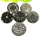 SPARKLING LOT OF SILVER LUSTER GLASS BUTTONS ~ VTG. TO VICTORIAN S59
