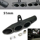 1x Exhaust Muffler Tail Pipe Three-outlet For Motorcycle Scooter ATV Yamaha 51MM