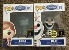 POP! Frozen Ana And Olaf 2014 SDCC Exclusives