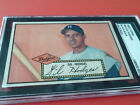 1952 TOPPS # 36 GIL HODGES BLACK BACK BROOKLYN DODGERS SGC AUTHENTIC