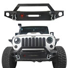 Textured Iron Five Star Front Rear Bumper With D Ring For 07 18 Jeep Wrangler JK