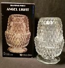Indiana Glass Fairy Lamp Diamond Point Clear Candle Holder Angel Light in Box