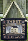 Home Sweet Home Hanging Wall Sign Plaque Primitive Farmhouse Rustic Lodge Cabin
