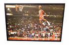 Michael Jordan Signed 60 x 40 Canvas Giclee Framed Chicago Bulls ESP Auto