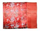Custom-Made in USA, Art Silk Throw or Bed Scarf, Red (6101)