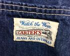 Vintage CARTER Denim Apron Watch The Wear Blue Jeans Railroad Trains USA Made