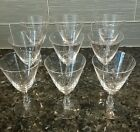 9 Vintage FOSTORIA Crystal Wine Water Cocktail Glasses - 6 ounce - Pine