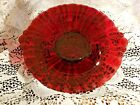 VINTAGE OLD CAFE - ROYAL RUBY DEPRESSION HANDLED MINT / COOKIE TRAY 8.5