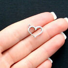 8 Heart Charms Antique Silver Tone with Classic Design SC2510
