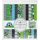 DOODLEBUG 4886 Double Sided Paper 12 Pack 12 x 12