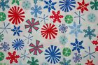 Heidi Grace Holiday Christmas Snowflakes Cotton Quilt Fabric 1 yd 25