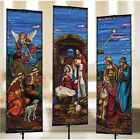Stained Glass Nativity Banner Set 2 X 6