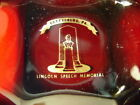 Vintage Anchor Hocking Royal Ruby Lincoln Speech Memorial Gettysburg PA Ashtray
