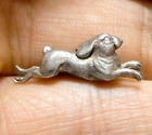 BEAUTIFUL SMALL VINTAGE / ANTIQUE SILVER HARE UNFINISHED PIECE JEWELLERY (A18)
