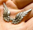 BEAUTIFUL SMALL VINTAGE / ANTIQUE SILVER WINGS UNFINISHED PIECE JEWELLERY (A25)