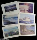 6 Gig Harbor South Puget Sound Ferry Blank Note Cards Marshall Johnson no env