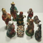 Vtg Christmas Nativity Set 9 Pieces Large Japan made