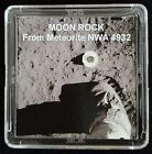 DELUXE EDITION AUTHENTICATED LUNAR METEORITE 12mg Moon Rock Display+Easel fs