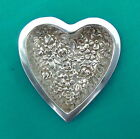 Stieff Sterling Silver Repousse Rose Floral Heart Pin Ring Tray Valentine's Day