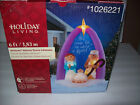 GEMMY CHRISTMAS NATIVITY MANGER FAMILY Airblown Inflatable Holiday Yard Decor 6