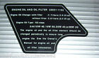 KAWASAKI Z1000J KZ1000J OIL AND FILTER CAUTION WARNING DECAL