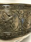 c 1883 Gorham Sterling Silver Large Bowl Victorian Aesthetic Antique Arts Rare