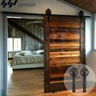 WINSOON 6.6FT Single Sliding Barn Wood Door Hardware Roller Track Kit Modern