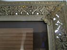 Vtg Mid Century Filigree Floral Gold/White Metal Photo Picture Frame 8x10.5