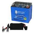 Mighty Max YTX5L-BS GEL Battery Replaces for Keeway Focus 50 06 + 12V 1Amp Chrgr