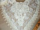 Home Made Large White Lace Collar for Wedding Gown or Formal Dress