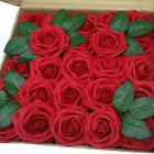 100pcs Artificial Rose Real Looking Foam Rose for Wedding Decor or DIY Bouquet
